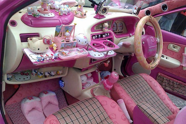 top 10 wacky car interiors. Black Bedroom Furniture Sets. Home Design Ideas