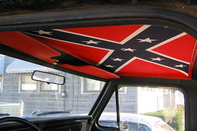 diy confederate flag truck headliners. Black Bedroom Furniture Sets. Home Design Ideas