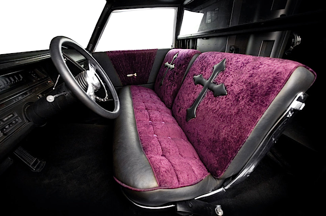 custom halloween themed hearse. Black Bedroom Furniture Sets. Home Design Ideas
