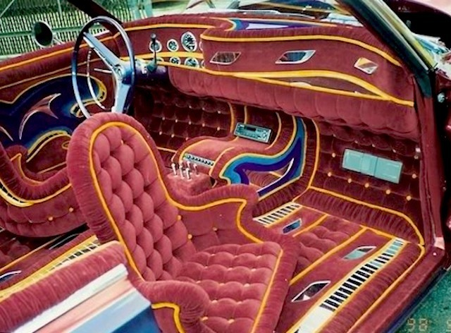 10 wild lowrider car interiors. Black Bedroom Furniture Sets. Home Design Ideas