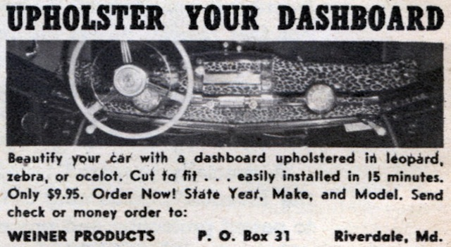 The Hog Ring - Auto Upholstery Community - Upholster Your Dashboard Popular Science 1951