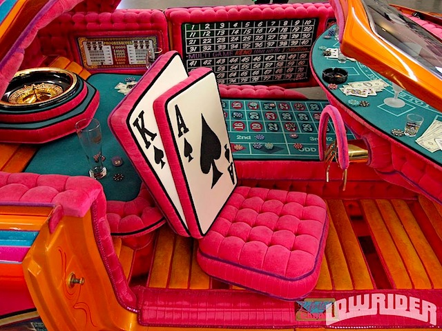photo casino themed lowrider interior. Black Bedroom Furniture Sets. Home Design Ideas