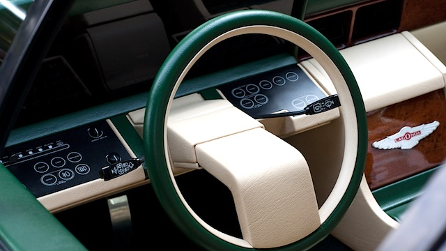 Auto Upholstery - The Hog Ring - Aston Martin Lagonda dashboard