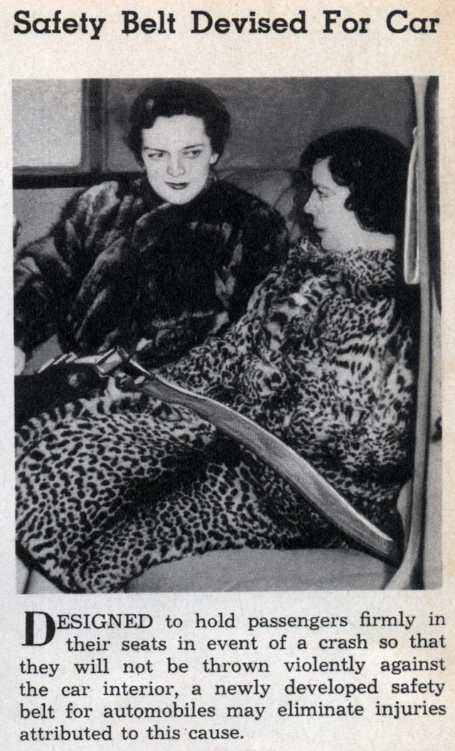 Auto Upholstery - The Hog Ring - First Seat Belt 1938