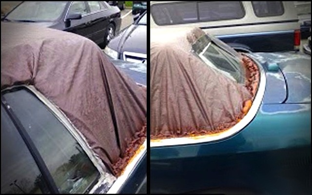 Auto Upholstery - The Hog Ring - Trash Bag Convertible Top