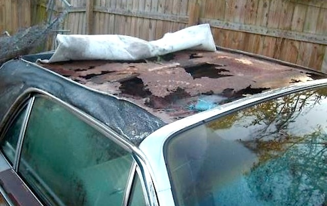 the hidden horrors of vinyl top roof rust. Black Bedroom Furniture Sets. Home Design Ideas