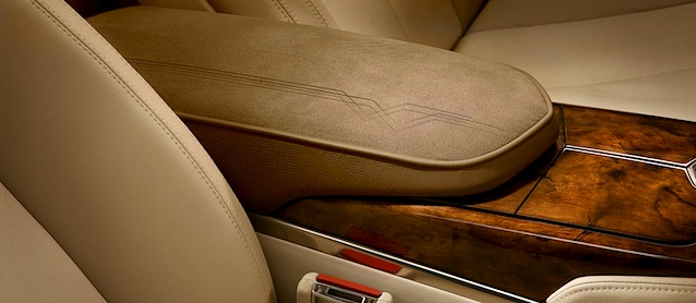 cadillac shows off the xts woodgrain trim. Black Bedroom Furniture Sets. Home Design Ideas