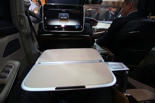 Auto Upholstery - The Hog Ring - Mercedes-Benz S-Class Table