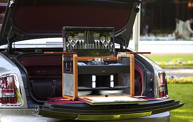 Auto Upholstery - The Hog Ring - Rolls Royce Trunk