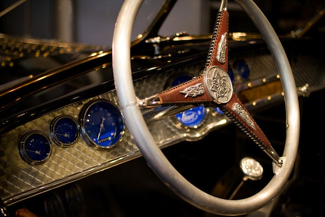 Auto Upholstery - The Hog Ring - Custom Leather Tooled Steering Wheel
