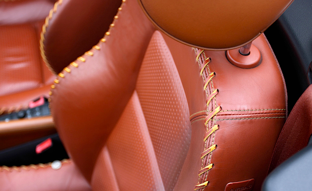 Auto Upholstery - The Hog Ring - Laced Leather French Seam - Audi TT