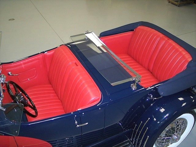 The Hog Ring - Auto Upholstery News - Dan Kirkpatrick Interiors - 1929 Duesenberg  J-129 LeBaron  Dual Cowl Phaeton