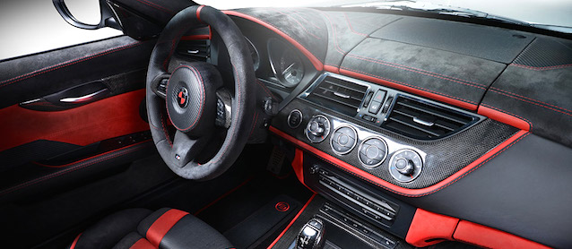 Auto Upholstery - The Hog Ring - Carlex Design BMW Z4 Red Carbonic