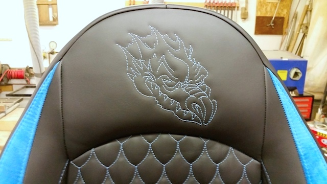 Auto Upholstery - The Hog Ring - Gottfried Upholstery - Dragon Scale Pleats