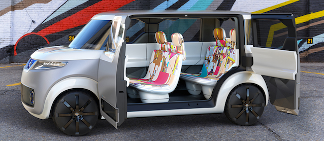 Nissan Says the Future is Digital Upholstery