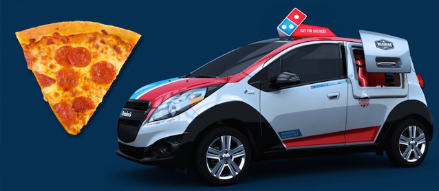 Auto Upholstery - The Hog Ring - Dominos Pizza - Cherolet Volt