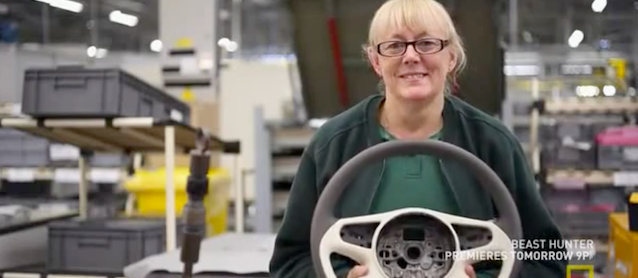 Wrapping a Bentley Steering Wheel
