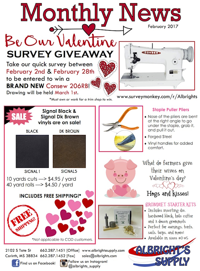The Hog Ring - Albrights Supply February Newsletter