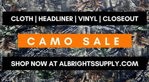 Camo Fabric is on Sale at Albright's Supply