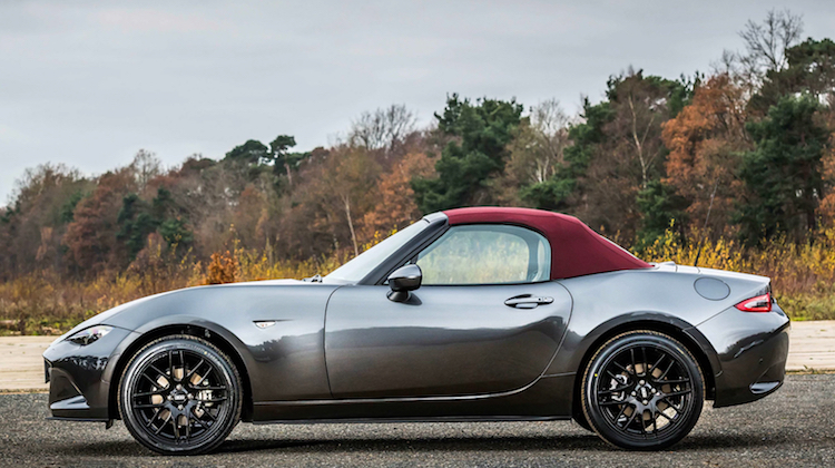 The Hog Ring - Miata Rocks a New Cherry Red Soft Top