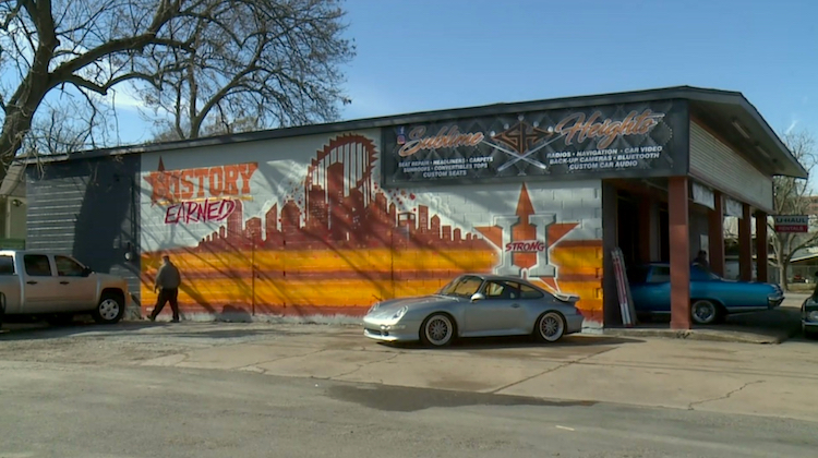 Upholstery Shop Uplifts Houston with Mural