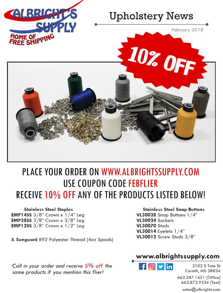 The Hog Ring - Albrights Supply Announces Sale