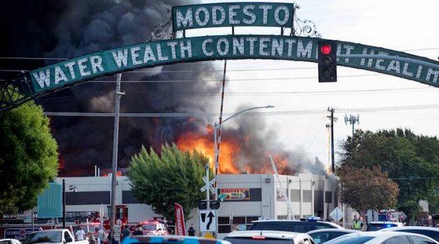 California Trim Shop Damaged in Fire