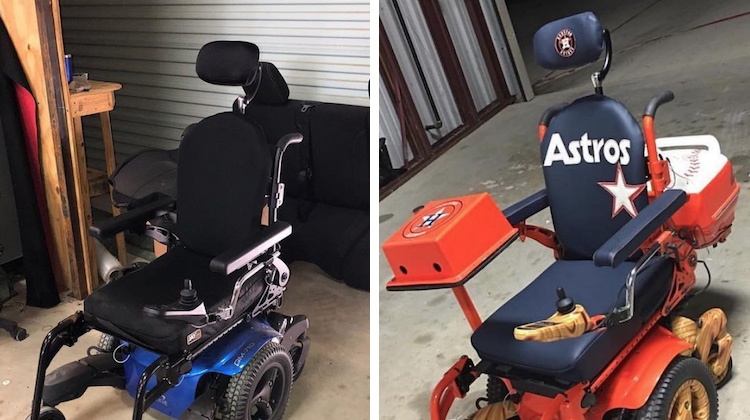 The Hog Ring - Trim Shop Inspires with Custom Wheelchair