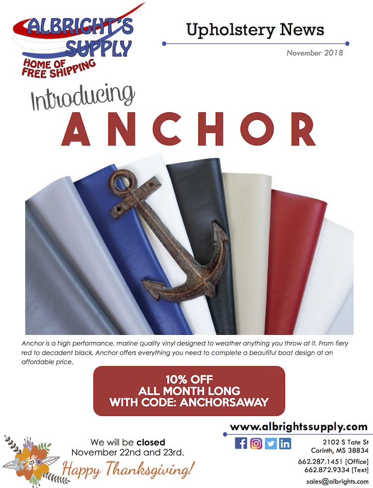 Albright's Supply has a Sale on Marine Vinyl | The Hog Ring