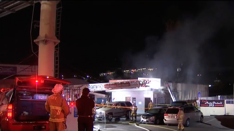 San Diego Trim Shop Goes Up in Flames