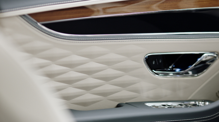 The Hog Ring - Bentley Teases 3D Diamond Pattern Interior