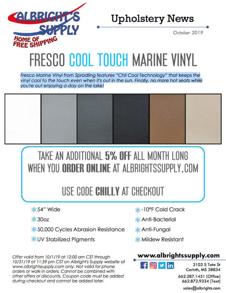 The Hog Ring - Save on Marine Vinyl at Albrights Supply