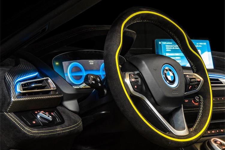 The Hog Ring - Alcantara Unveils its BMW i8 Roadster LimeLight