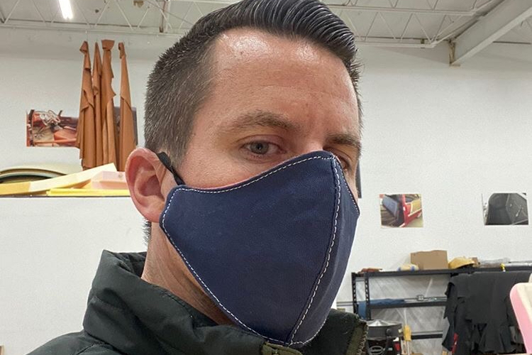 The Hog Ring - These Auto Trim Shops Are Making Masks to Combat Coronavirus - Bux Customs