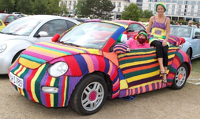 Auto Upholstery - The Hog Ring - Hand Knitted Volkswagen Beetle