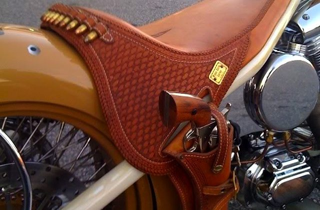 Auto Upholstery - The Hog Ring - Motor Cycle Seat Gun Holster