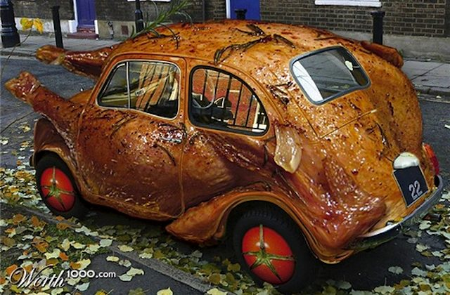 Thanksgiving Turkey Volkswagen Beetle