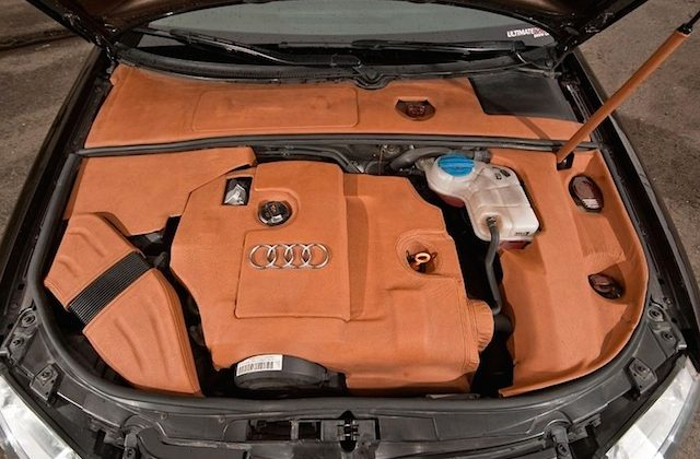 Auto Upholstery - The Hog Ring - Audi Leather Engine Bay