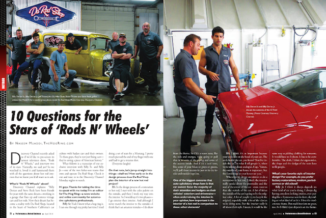 The Hog Ring - Auto Upholstery News - Rods N Wheels - Performance and Hotrod Business Magazine