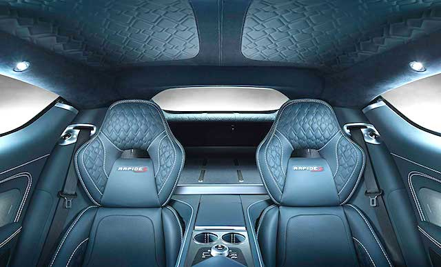 Auto Upholstery - The Hog Ring - Aston Martin Rapid S Diamond Pleat