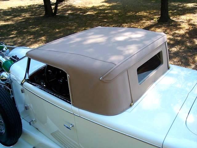 The Hog Ring - Auto Upholstery News - Dan Kirkpatrick Interiors - 1929 Duesenberg J-108 Murphy Disappearing Top Convertible