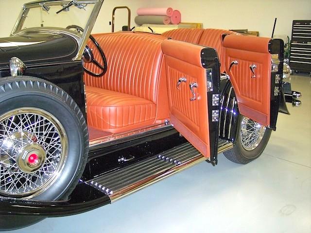 The Hog Ring - Auto Upholstery News - Dan Kirkpatrick Interiors - 1933 Duesenberg SJ-528 Brunn Riviera Disappearing Top Phaeton