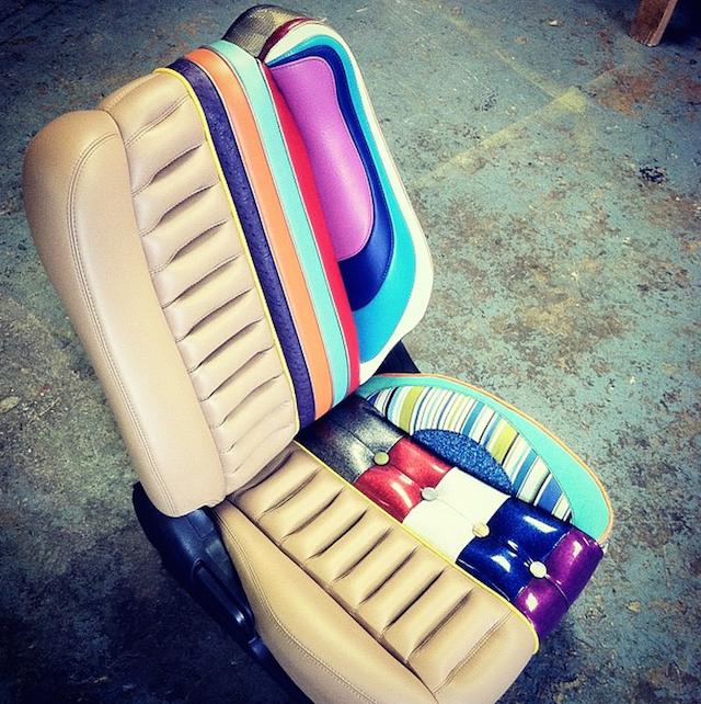 Auto Upholstery News - The Hog Ring - Dane Utech Miniature Display Seat