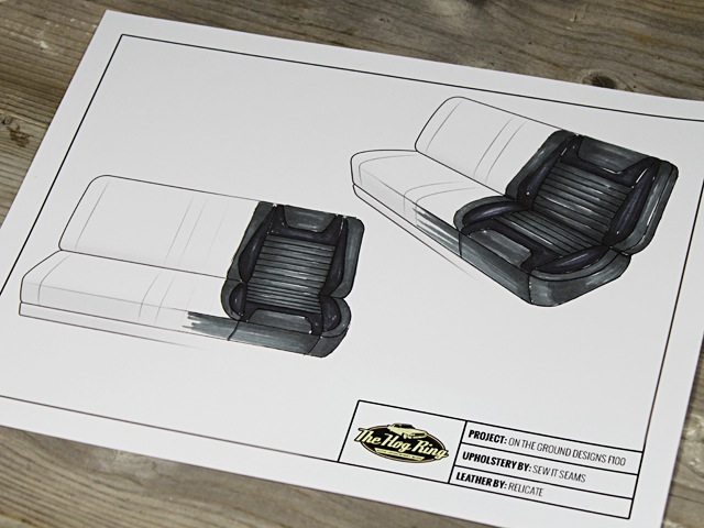 Auto Upholstery - The Hog Ring - Relicate Leather Collection Rendering