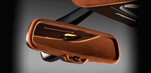 Auto Upholstery - The Hog Ring - Vilner Audi A5 - Alcantara Rearview Mirror