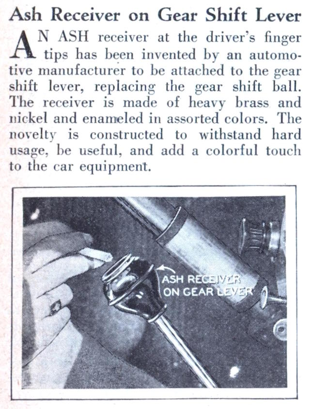 Auto Upholstery - The Hog Ring - Ash Tray Gear Shift Knob