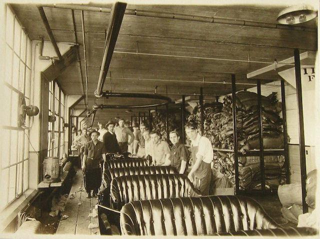 Auto Upholstery - The Hog Ring - Ford Model T Upholstery Assembly Line