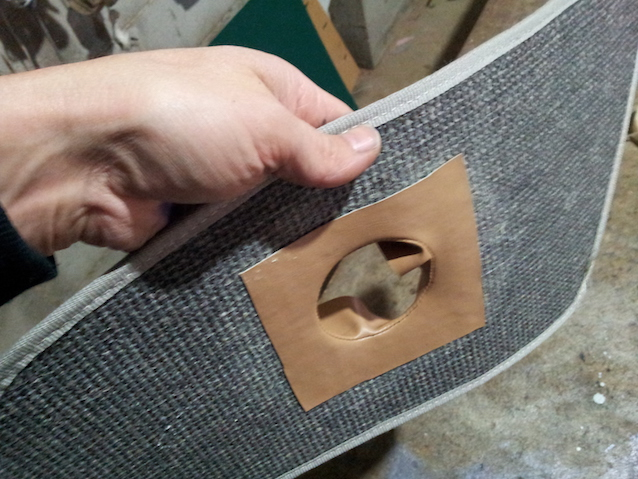 The Hog Ring - How to bind a carpet hole
