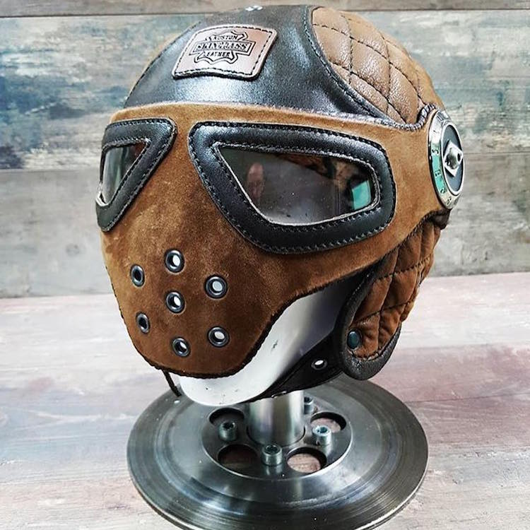 The Hog Ring - 5 Gorgeously Trimmed Motorcycle Helmets