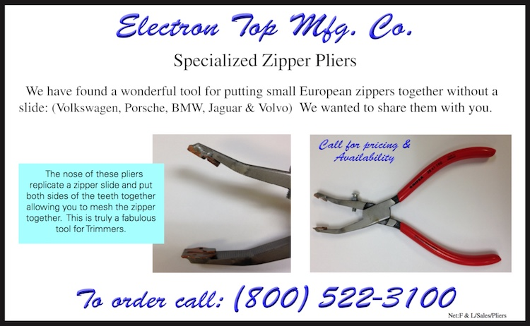 The Hog Ring - Electron Top Now Sells Zipper Pliers